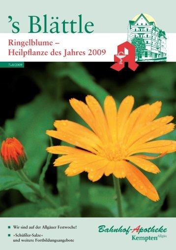 Ringelblume-Heilpflanze des Jahres 2009 - Stadelmann Verlag
