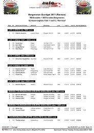 Schlussrangliste Samstag - Bergrennen Gurnigel