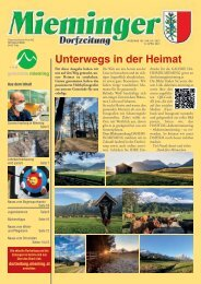 Dorfzeitung Mieming, April 2021