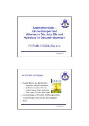 Aromatherapie – FORUM ESSENZIA e.V.