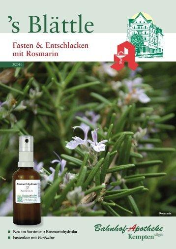 Fasten & Entschlacken mit Rosmarin - Stadelmann Verlag
