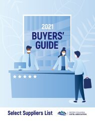 BCHA 2021 Buyers' Guide