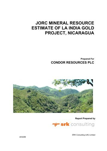 Table of Contents - CONDOR Gold PLC