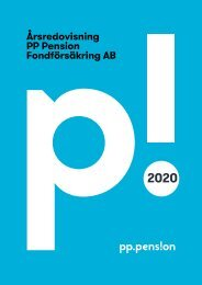 PP Pension Fondförsäkring AB Årsredovisning 2020