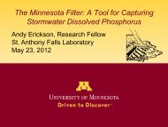 The Minnesota Filter - St. Anthony Falls Laboratory Stormwater ...