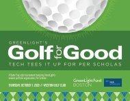 GreenLight Fund BOSTON 2020 Golf Tournament Program