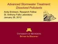 Advanced Stormwater Treatment - St. Anthony Falls Laboratory ...