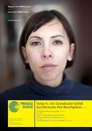 Magazin von FRAGILE Suisse - Nummer 1, März 2011