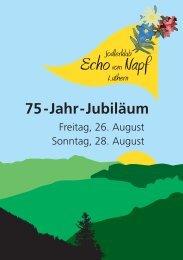 75-Jahr-Jubiläum - Jodlerklub Luthern