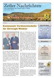 Kommunale Verdienstmedaille für Christoph ... - Stadt Zeil a. Main
