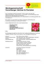 Vorarlberger Gärtner & Floristen - OGV