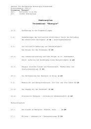Seminarplan Proseminar