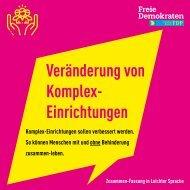 Veränderung von Komplex-Einrichtungen (Zusammen-Fassung in leichter Sprache)