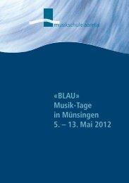 BLAU - Musikschule Aaretal