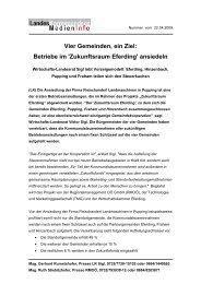 Vier Gemeinden, ein Ziel: Betriebe im 'Zukunftsraum Eferding ... - TMG