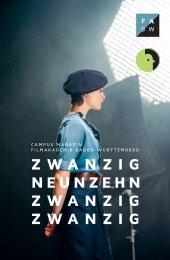 Filmakademie Baden-Württemberg Campus Magazin 19/20