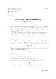 Blatt 13 - Mathematisches Institut der Ludwig-Maximilians ...