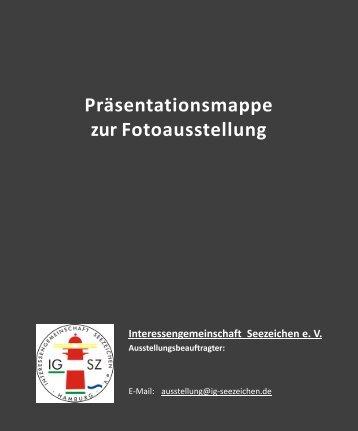 Präsentationsmappe zur Fotoausstellung Interessengemeinschaft ...