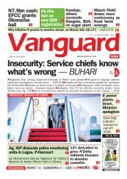 16042021 - Insecurity: Service chiefs know what's wrong — BUHARI