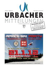 Servicebüro Urbach - Gemeinde Urbach