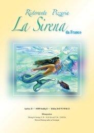 """Für unsere """"kleinen"""" Gäste - Ristorante Pizzeria La Sirena da Franco"""