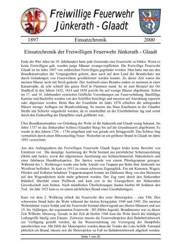 Freiwillige Feuerwehr Jünkerath - Glaadt