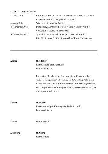 Historische Kollegiatkapitel - Damian Hungs