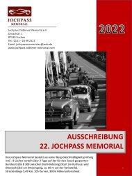 AUSSCHREIBUNG 22. JOCHPASS MEMORIAL