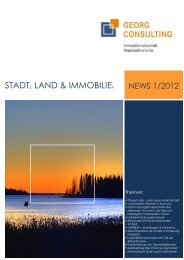 STADT, LAND & IMMOBILIE T, LAND ... - Georg Consulting