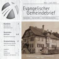 Gemeindebrief 3/2021