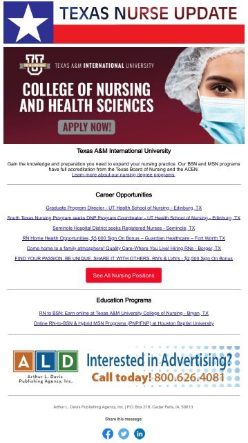 Texas Nurse Update - April 2021