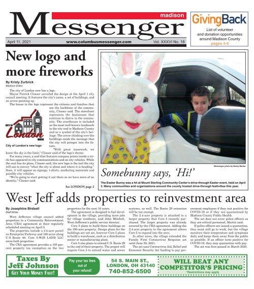 Madison Messenger - April 11th, 2021