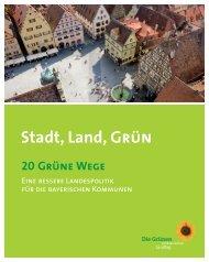 Broschüre Stadt, Land, Grün - SEPP DÜRR