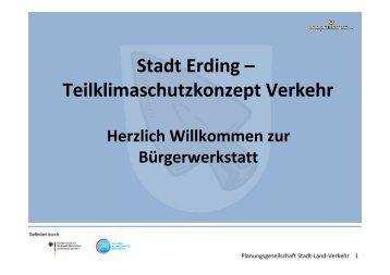 Stadt Erding – Teilklimaschutzkonzept Verkehr