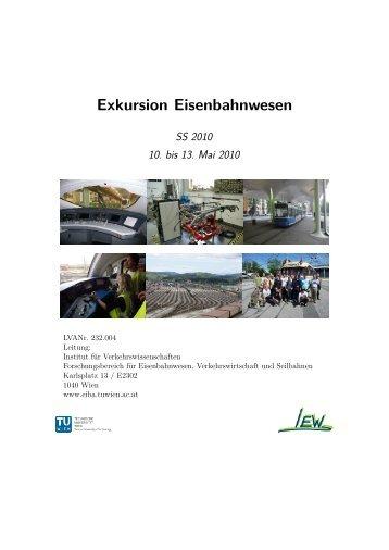 SS2010 - Institut für Eisenbahnwesen, Verkehrswirtschaft und ...