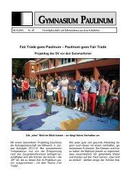 (13) auf der dOCUMENTA (13) - Gymnasium Paulinum