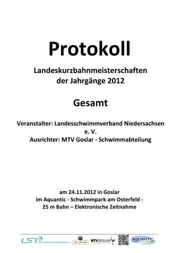 WK-Pro Protokoll - der SGS Hannover