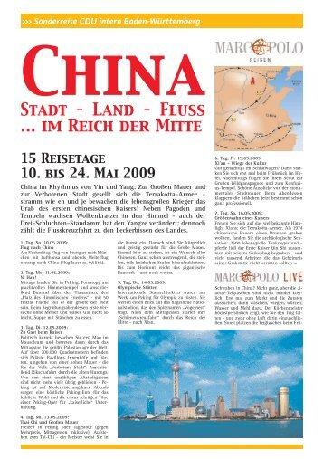 Stadt – Land – Fluss ... im Reich der Mitte - bei der SDV in Stuttgart