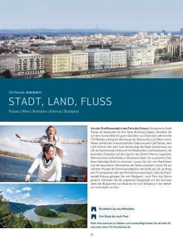 STADT, LAND, FLUSS - TUI FlussGenuss