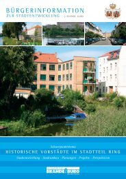 Bürgerinformation zur Stadtentwicklung - Brandenburg an der Havel