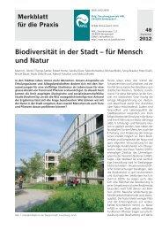 Biodiversität in der Stadt – für Mensch und Natur - WSL