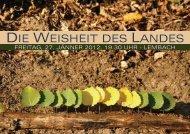 DIE WEISHEIT DES LANDES - Agenda 21