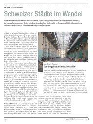 Magazin «umwelt» 4/2012 - Lebensraum Stadt - Genossenschaft ...