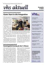 Ausgabe II/2005 - VHS Landkreis Hof