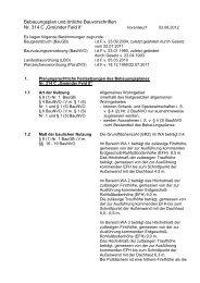 """Bebauungsplan und örtliche Bauvorschriften Nr. 314 C """"Gmünder ..."""