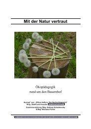 Mit der Natur vertraut - mag | peter maurer