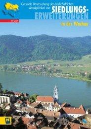 Siedlungserweiterungen in der Wachau - Raumordnung und ...