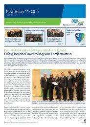 Newsletter November 2011 - Initiative Regionalmanagement ...