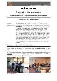 Protokoll – Dorfmoderation - Ortsgemeinde Dörth