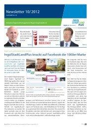 Newsletter - IRMA - Initiative Regionalmanagement Region ...